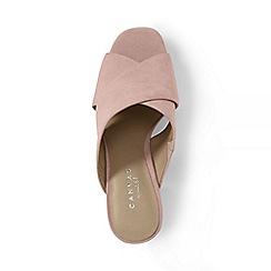 Lands' End - Pink regular crossover suede mule sandals