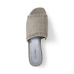 Lands' End - Brown regular fringed slide sandals
