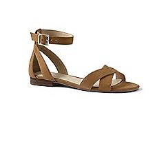 Lands' End - Brown regular ankle strap sandals
