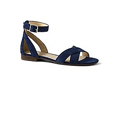 Lands' End - Blue regular ankle strap sandals