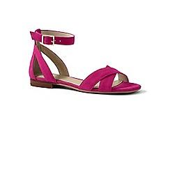 Lands' End - Pink regular ankle strap sandals