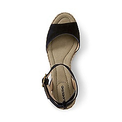 Lands' End - Black regular classic wedge sandals