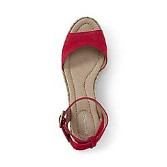 Lands' End - Pink regular classic wedge sandals