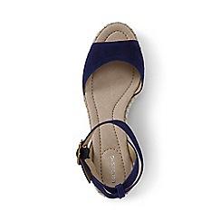 Lands' End - Blue regular classic wedge sandals