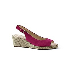 Lands' End - Pink suede espadrille wedge sandals