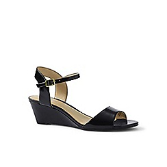 Lands' End - Black wedge sandals