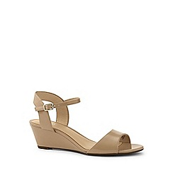 Lands' End - Beige wedge sandals