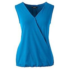 Lands' End - Blue sleeveless jersey wrap top