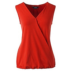 Lands' End - Red sleeveless jersey wrap top