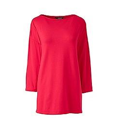 Lands' End - Pink petite cotton modal drop shoulder tunic