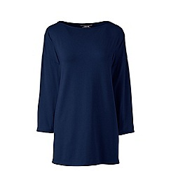 Lands' End - Blue petite cotton modal drop shoulder tunic