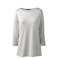 Lands' End - Grey petite cotton modal drop shoulder tunic