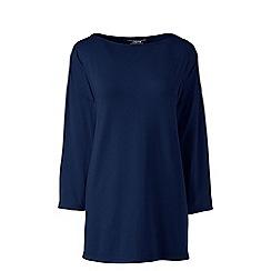 Lands' End - Blue plus cotton modal drop shoulder tunic