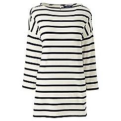 Lands' End - Cream stripe dropped shoulder tunic