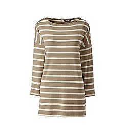 Lands' End - Green petite stripe dropped shoulder tunic