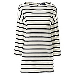 Lands' End - Cream petite stripe dropped shoulder tunic