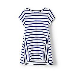 Lands' End - Girls' blue stripe trapeze legging top