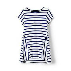 Lands' End - Girls' blue stripe trapeze legging top