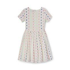 Lands' End - Girls' white jacquard twirl dress