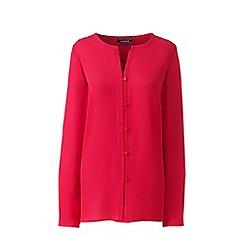 Lands' End - Pink plus button front blouse