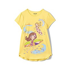 Lands' End - Girls' yellow a-line spring graphic tee