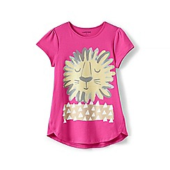 Lands' End - Girls' pink a-line spring graphic tee