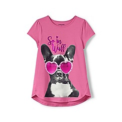 Lands' End - Girls' pink a-line graphic tee