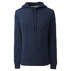 Lands' End - Blue regular mariner hooded cotton jumper