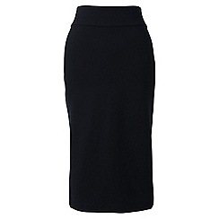 Lands' End - Black regular ponte jersey pencil skirt