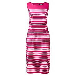 Lands' End - Pink petite engineered stripe ponte jersey dress