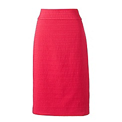 Lands' End - Pink woven textured pencil skirt