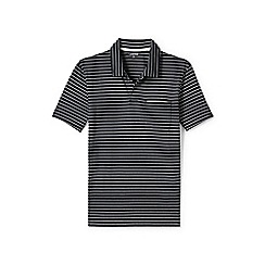 Lands' End - Black striped seaworn jersey polo