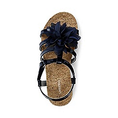 Lands' End - Girls' blue arabella flower sandals