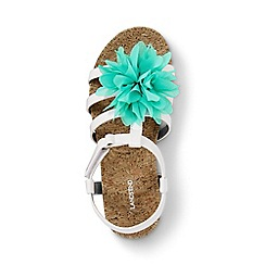 Lands' End - Girls' white arabella flower sandals