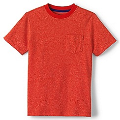 Lands' End - Boys' orange marled tee