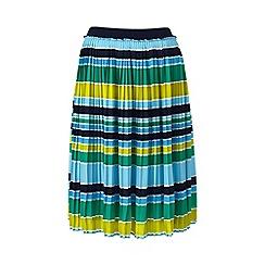 Lands_End_Women - Multi pleated stripe skirt