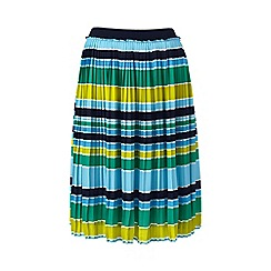 Lands_End_Women - Multi petite pleated stripe skirt