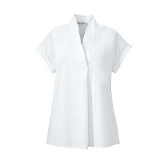 Lands' End - White cap sleeve tuck and wrap top