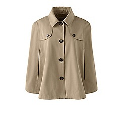 Lands' End - Green trench coat cape
