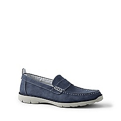 Lands' End - Blue regular lightweight comfort canvas loafers