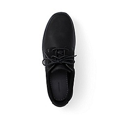Lands' End - Black regular lightweight comfort oxford lace-up shoes