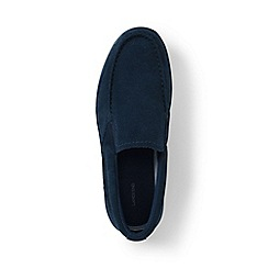 Lands' End - Blue regular lightweight comfort suede slip-on shoes