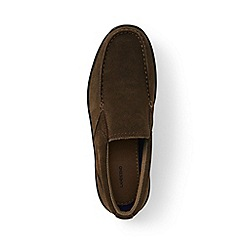 Lands' End - Brown regular lightweight comfort suede slip-on shoes