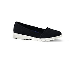 Lands' End - Black wide alpargata slip-on shoes