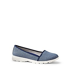 Lands' End - Blue wide alpargata slip-on shoes