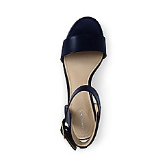 Lands' End - Blue regular block heel leather sandals