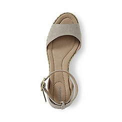 Lands' End - Brown regular classic wedge sandals