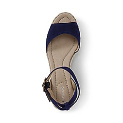 Lands' End - Blue regular classic wedge sandals