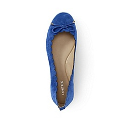 Lands' End - Blue regular scalloped ballet pumps