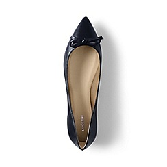 Lands' End - Blue regular pointed toe ballet pumps